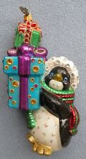 Jay Strongwater Penguin with Gifts Ornament Swarovski Elements New with Box