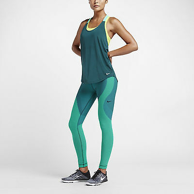 Nike Teal Yoga Zoned Sculpt Women's Training Tights 810965-347 Size S-M