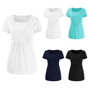 Women-039-s-Pregnant-Breastfeeding-Maternity-Clothes-Nursing-Tops-T-Shirt-Blouse-Tee