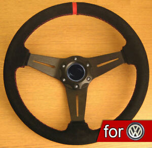 Suede-Leather-Rally-Steering-Wheel-for-VW-Transporter-T3-T4-T5-Caravelle-Beetle