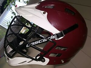 Image Is Loading Cascade Clh2 White Red Lacrosse Helmet Size S M