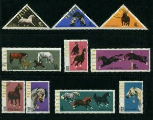 1963-Poland-Stamps-034-Horses-034-SC-1188-1195-Complete-Set-8-Stamps-LH-2-NH