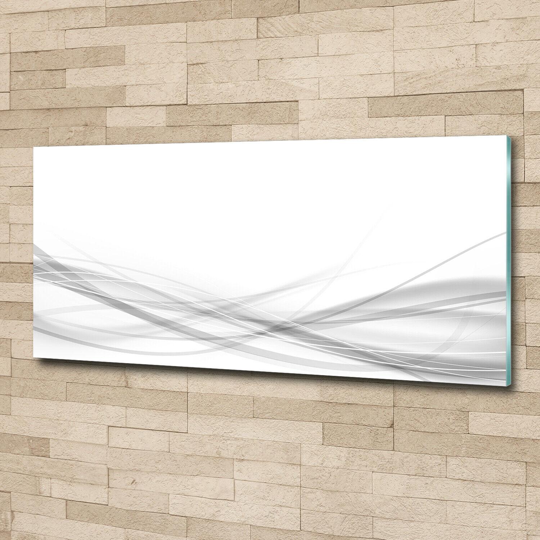 Wandbild aus Plexiglas® Druck auf Acryl 125x50 Kunst Abstrakte Welle