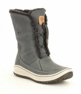 New in Box ECCO Womens Trace Tie Fur Cold Weather Boots Grey Size 41 ... 4126727076