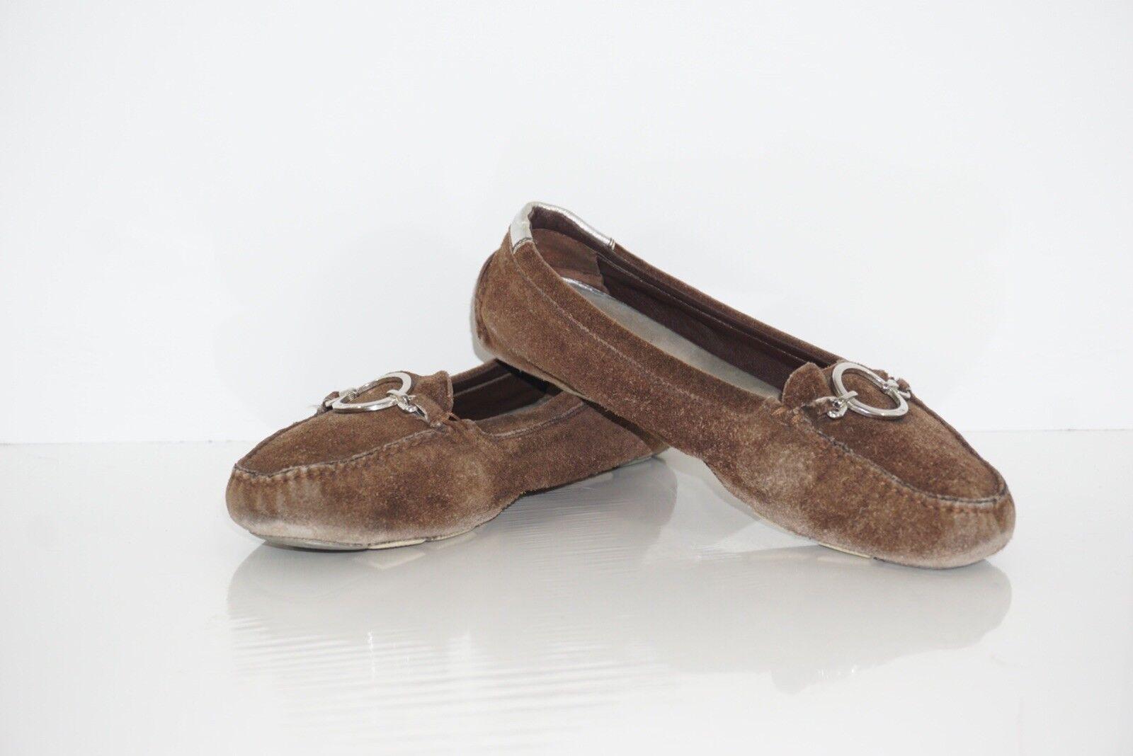 Braun Suade Prada Driving Loafers Größe Größe Größe 391/2. Prada Loafers . d4c05b
