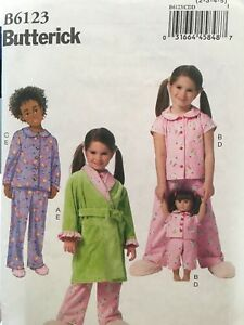8e9904d2b68e Butterick Girls Pajamas   robe sewing pattern size 2-8 matching 18 ...