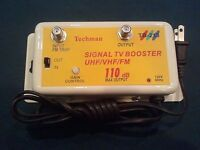 36 Db Cable Tv Antenna Booster Signal Amplifier 36db Hdtv Amp Usa Free Ship