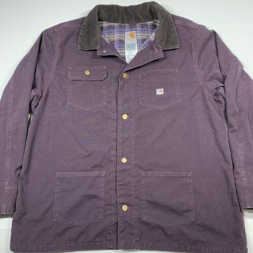 Women's Carhartt Jacket Flannel Lined Canvas Jacke