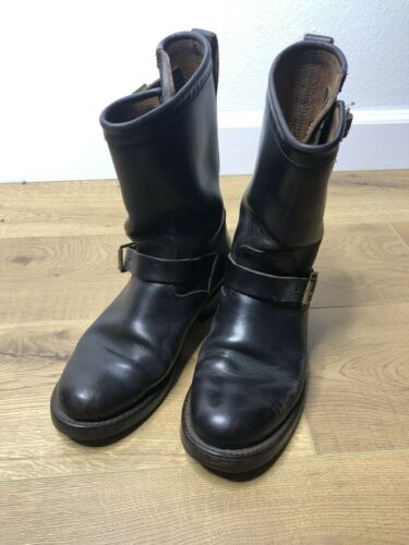 RRL Ralph Lauren 8 Black Engineer Boots New Biltri