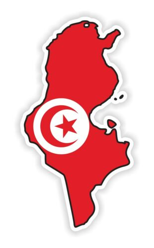 1x sticker tunisia silhouette bumper decal map flag bumper laptop tablet door