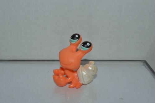 Littlest Pet Shop~#188~Hermit Crab~Orange~White Shell~Blue Dot Eyes~Red Magnet