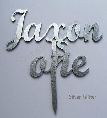 Sito Ufficiale Nome Personalizzato E L'età Cake Topper Glitter Specchio E Colori- Novel (In) Design;