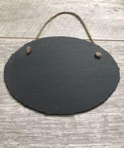 Matrimonio Shabby Chic Outfit : Handmade slate oval chalkboard blackboard sign plaque shabby