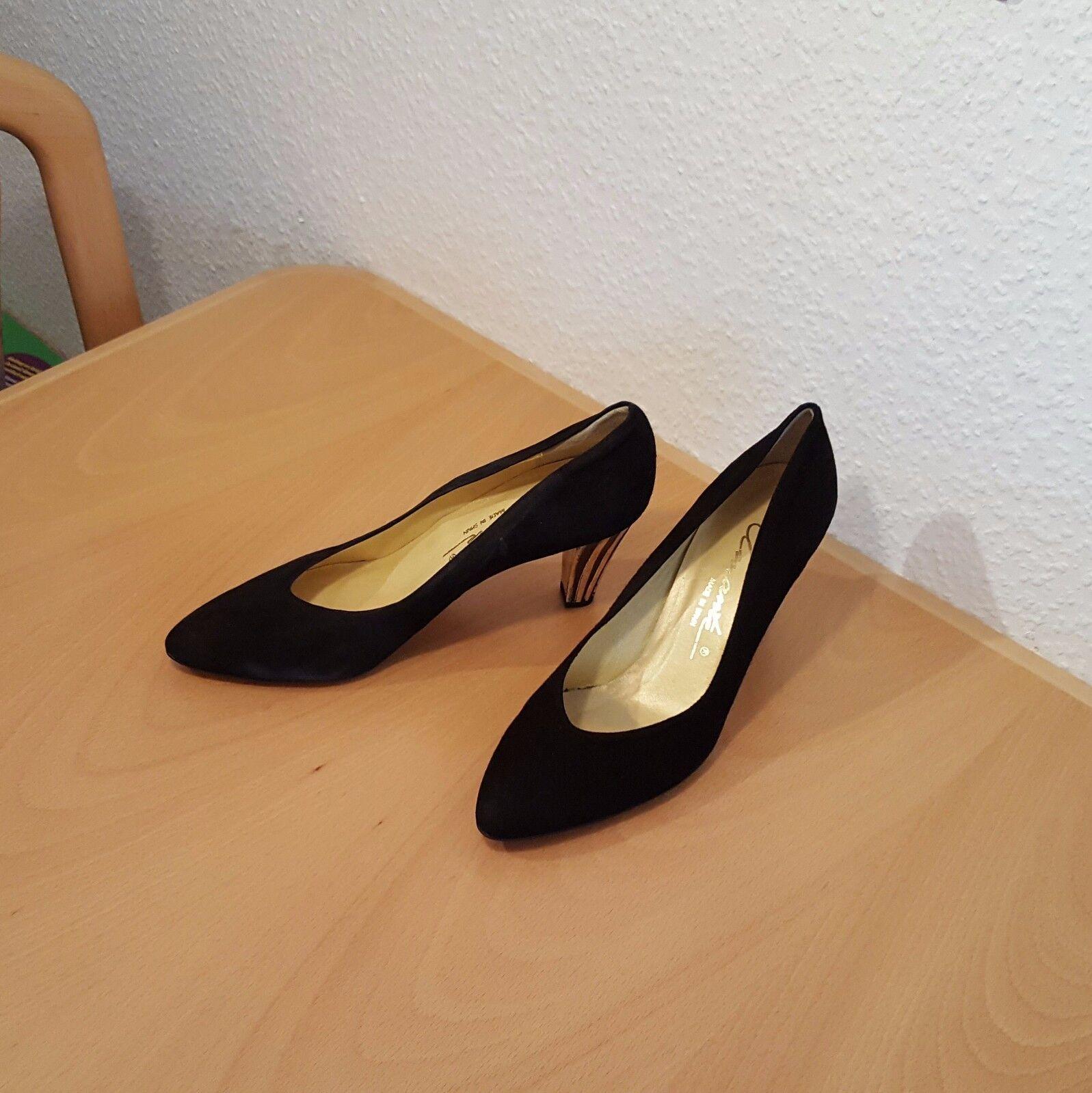 Amante High Heels Pumps Damenschuhe Gr. 40 - 9cm schwarz