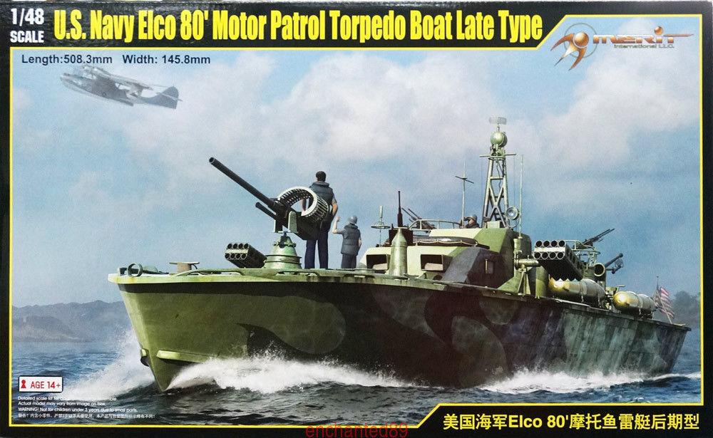 Merit 64801 1 48 USN Elco 80' Motor Partol Torpedo Boat Late Type