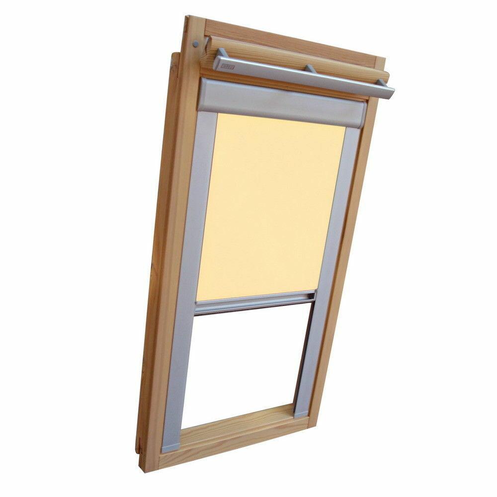 Dachfensterrollo Verdunkelung für Velux Dachfenster VE VK VS - hellgelb-creme
