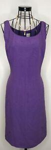 Impresionante-senoras-Armani-Purpura-Lila-Plisado-Vestido-de-Seda-Shift-Talla-48-Reino-Unido-14