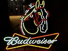 """New Budweiser Clydesdale Beer Neon Sign 19""""x15"""""""