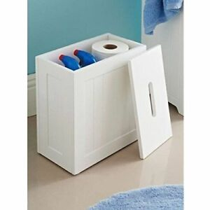 Maine-Bathroom-Toilet-Cleaning-Product-Storage-Tidy-Box-with-White-Crisp-Finish
