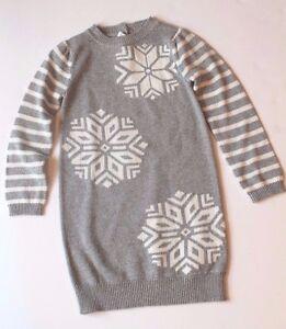091406fa4c3 Gymboree Cozy Ski Lodge Gray Sparkle Snowflake Sweater Dress Toddler ...