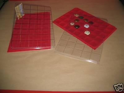 CLASSEUR A4! LOT 10 BOX PLAQUES INTERCALAIRES FEUTRINE 40 CASES POUR CAPSULES