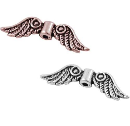 Ala de ángel feeflügel Angel Wings plástico metal perlas cobre plata hadas