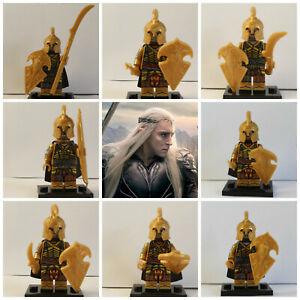 Lord-Of-The-Rings-Hobbit-8-Mini-Figures-Elf-Golden-Five-Armies-Legolas-Elves