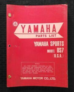 1969-1972-YAMAHA-SPORTS-034-250cc-MODEL-DS7-034-MOTORCYCLE-PARTS-CATALOG-MANUAL-NICE
