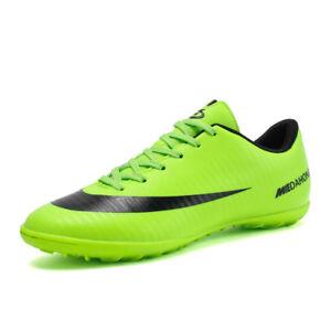 912c2ea49 Fashion Men Boys Soccer Cleats Shoes Indoor TF Sports Football ...