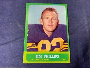 R4-86-FOOTBALL-CARD-JIM-PHILLIPS-LOS-ANGELES-RAMS-1963-TOPPS-41