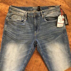 Buffalo-Jeans-Ash-X-Slim-Stretch-Vintage-Collection-Blue-Size-33x32