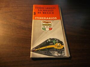 JANUARY 1958 NdeM NATIONAL OF MEXICO SYSTEM PUBLIC TIMETABLE