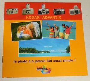 Depliant-publicitaire-Appareil-Photo-KODAK-Advantix-1600-Auto-3400-AF-3800-IX