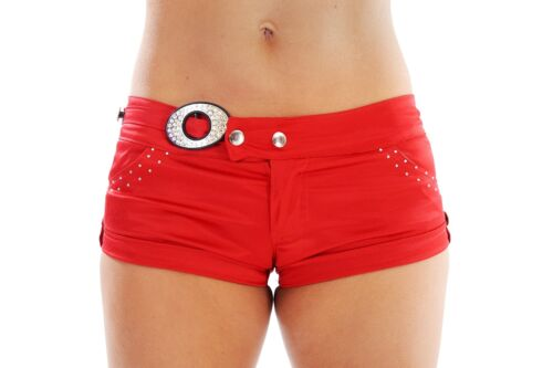 SVENDITA WINK Raso Hot Pants Pantaloncini Con Dettaglio Diamante *