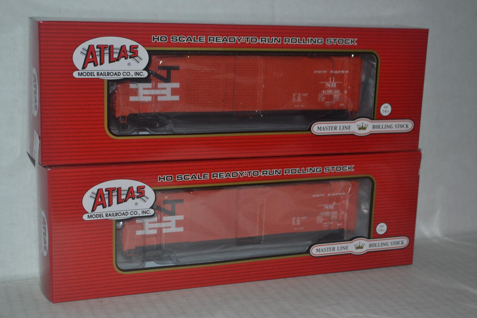 2 Atlas NH Nuovo Haven 50' Double Door Boxcar Ho Scale 20002495, 20002496
