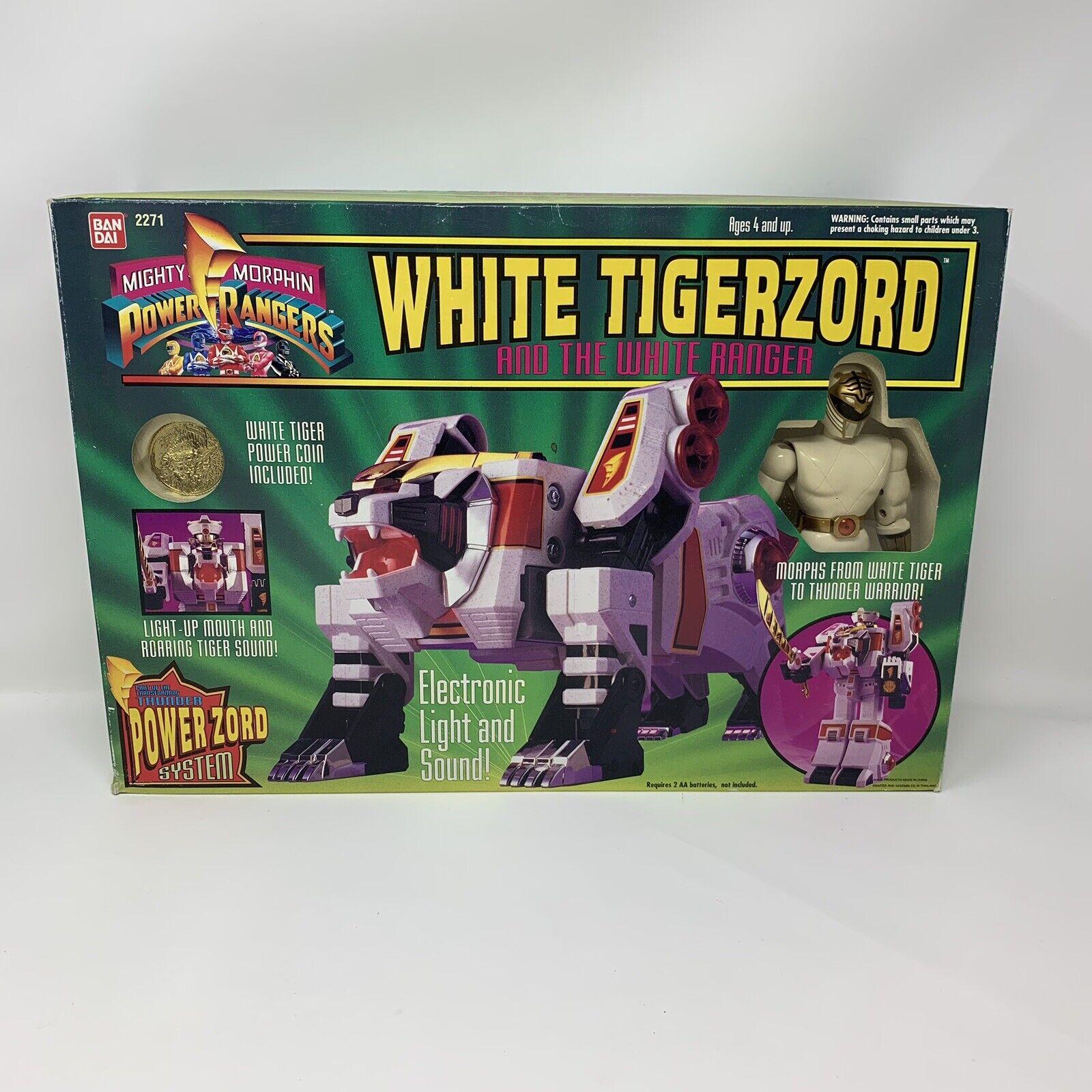 Bandai Mighty Morphin Power Rangers Tigerzord Con Ranger blancoo Ranger Mighty Morphin Power Rangers Sellado