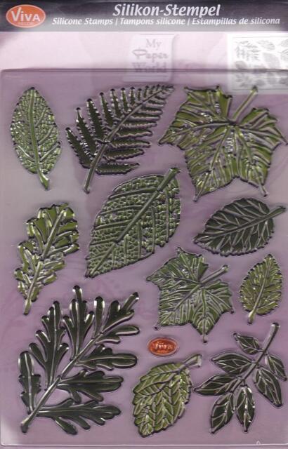 Motivstempel Clearstamps Silikonstempel Blätter Baumblätter Viva-Decor 400316400