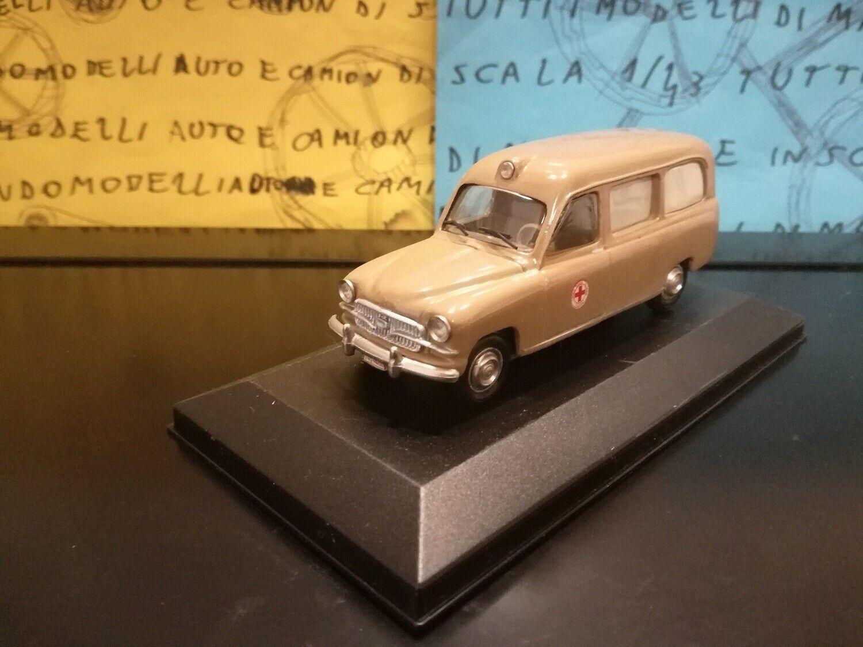 1 43 Fiat 1400 Bartoletti Croce Rossa Italiana ambulanza ambulance ambulancia