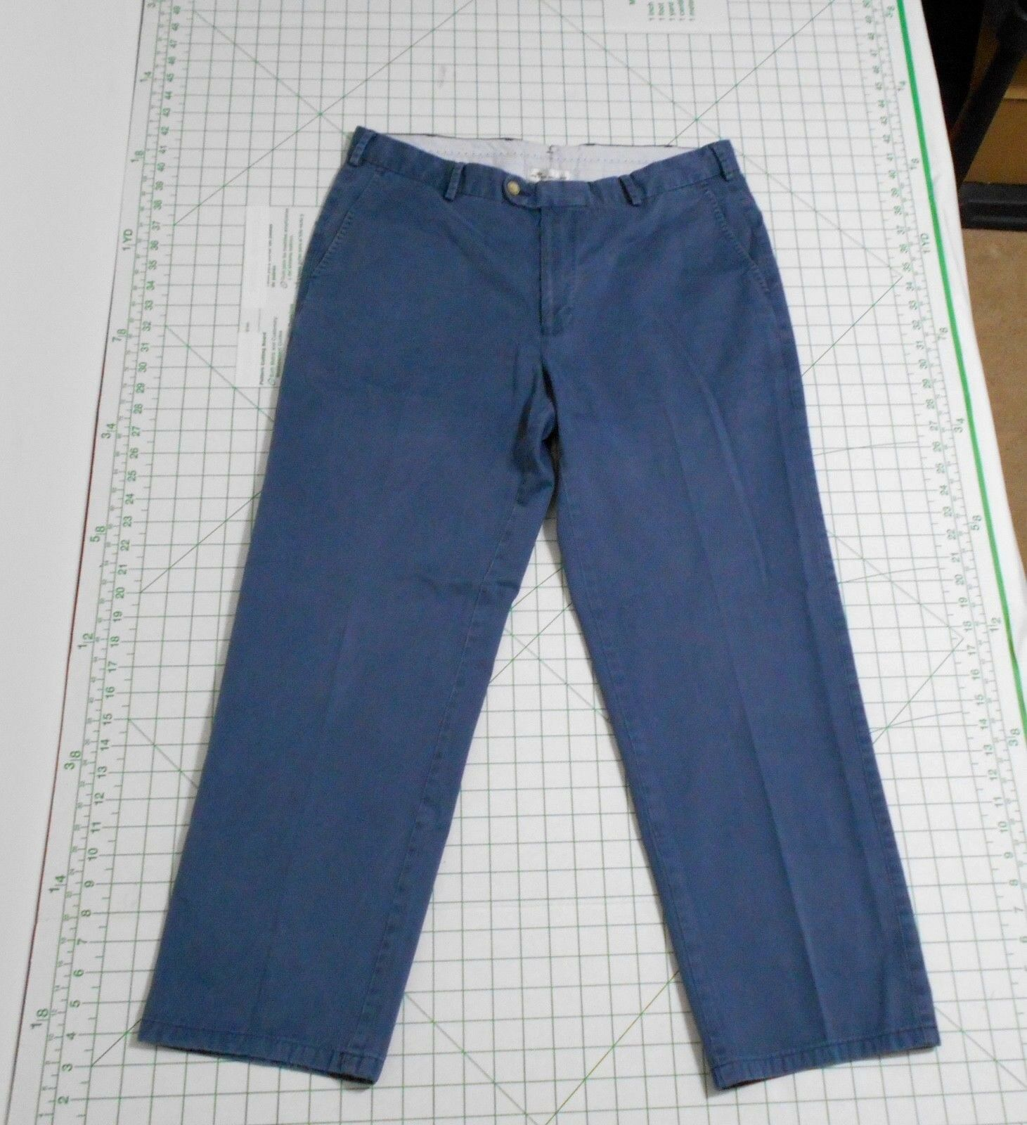 PETER MILLAR Casual Pants - Men's Size 35 - bluee Flat Front