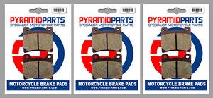Front & Rear Brake Pads (3 Pairs) for Yamaha FZ 750 Genesis 87-88