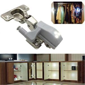 1 x led kitchen light cupboard doors cabinet hinges lighting