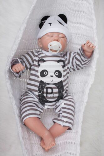"19/""Reborn Baby Boy Doll Sleeping Handmade Lifelike Vinyl Silicone X-MAS Gifts"