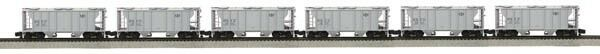 MTH 35-70005, S Gauge, 6-Car Ps-2 Hopper Car Set - Bessemer & Lake Erie