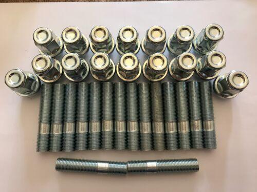 16 x M12X1.25 Borchie Cerchi In Lega Dado di conversione 60mm di lunghezza si adatta a CITROEN 65.1