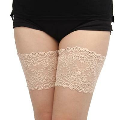 1pair Women's Bandelettes Lace Floral Elastic Thigh Bands Slim Leg Warmers Cuffs