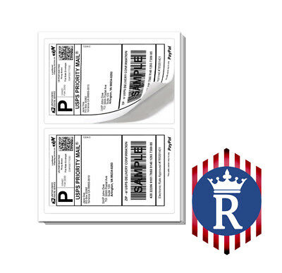 BEST QUALITY 2000 SHEETS 4000 Paypal SHIPPING LABELS 2 PER PAGE 8.5x5.5 FAST