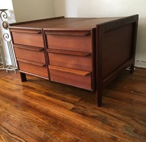 Mid Century Danish Modern large Nightstand End Side coffee ...
