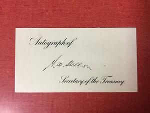 ANDREW W. MELLON (1855-1937) AUTOGRAPH - 49th U.S. Secretary of the Treasury