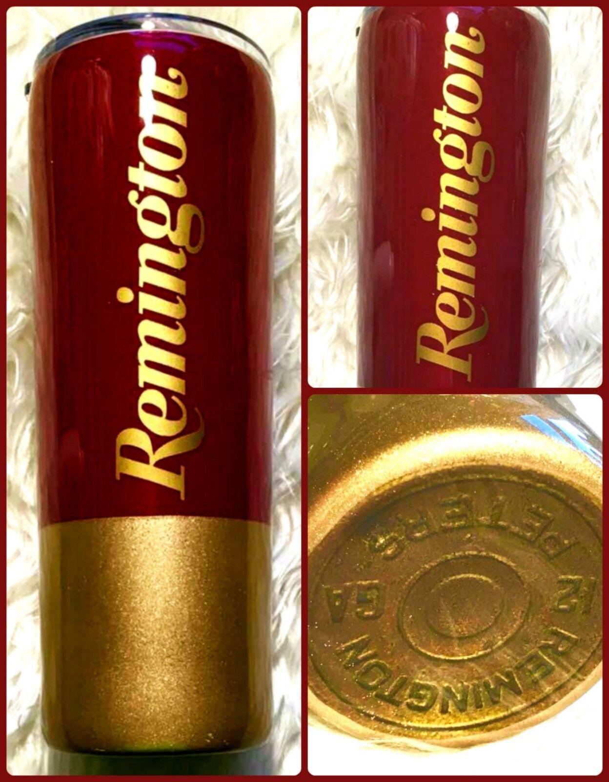 Shotgun Shell Bullet Inspired Tumbler with Lid - Hunting, Hunter - 20 oz