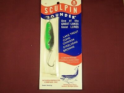 Details about  /Vintage Sculpin Fish Lure Holland Michigan Old Great Lakes Trout Salmon Fishing